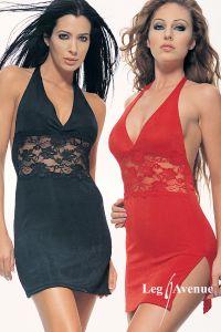 Leg Avenue 8478 Neckholder Kleid mit Spitzeneinsatz