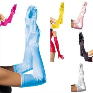 Leg Avenue 16B Extra lange wie Satin aussehende Handschuhe