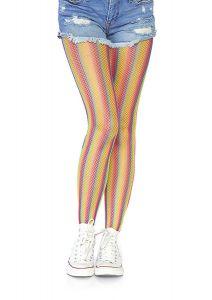 Leg Avenue 9305 Gestreifte Regenbogen-Netzstrumpfhose