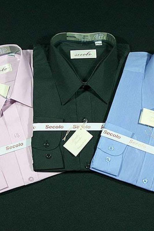 hellblau Secolo Hochwertiges Herren Business Langarm Hemd 100/% Baumwolle 44