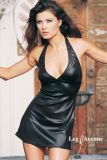 Leg Avenue 8271 Wet Look Slinky Halter Mini Dress