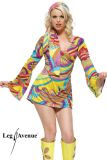 Leg Avenue 8630 Hippie Go-go Girl Kleid 2-teilig