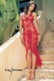 Leg Avenue 88005 Rotes asymmetrisches Neckholder Kleid