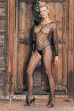 Leg Avenue 8748 Seamless Long Sleeved Ring Net Bodystocking black