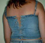 Gangstar Sexy Jeans Top Rücken Schnürung