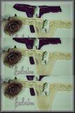 Bezaubernder Strings mit feinen Blumen Gr. F, XS-S, Paket
