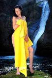 Skinsix OT 810 Beach Towel XXL sunny yellow