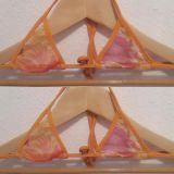 bikinini MB200 Micro Bikini Top Mesh XS lila, orange oder rot