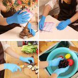 Einweghandschuhe Nitril Gummi Gr. M blau f. Haushalt Medizin Lebensmittel Garten